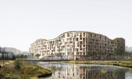 """Um edifício em forma de """"O"""" para regenerar uma zona industrial poluída"""
