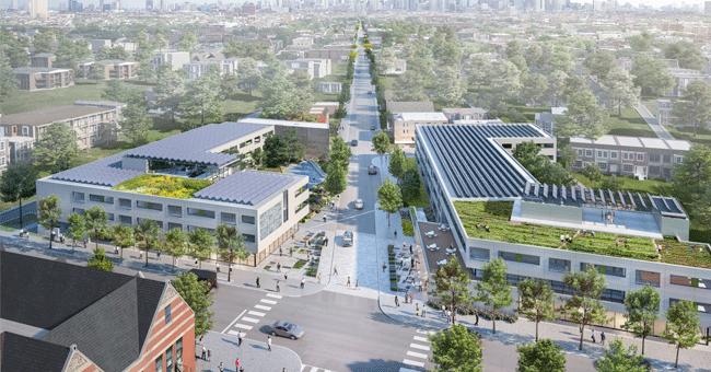 Garfield Green: reforçar a resiliência climática num bairro histórico de Chicago
