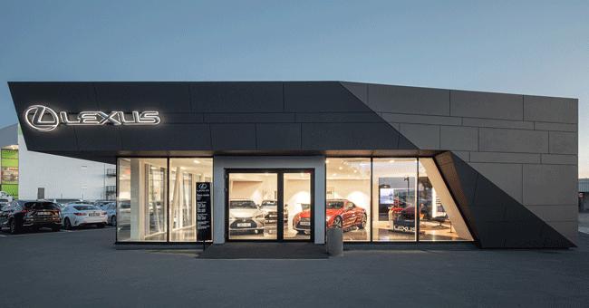 Concessionário da Lexus em Faro com fachada ventilada Ark Wall da Isopan