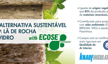 Knauf Insulation lança lã de rocha sustentável