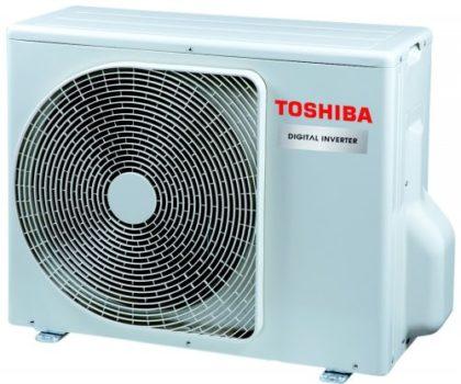 TOSHIBA: Gama alargada de modelos com unidade de 3.5HP Digital Inverter que oferece eficiência A++ com uma estrutura compacta e um funcionamento silencioso